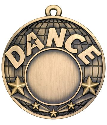 "Dance Gold Shooting Star Medal 50mm (2"")"