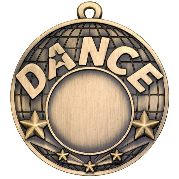 "Dance Gold Shooting Star Medal 50mm (2"")"