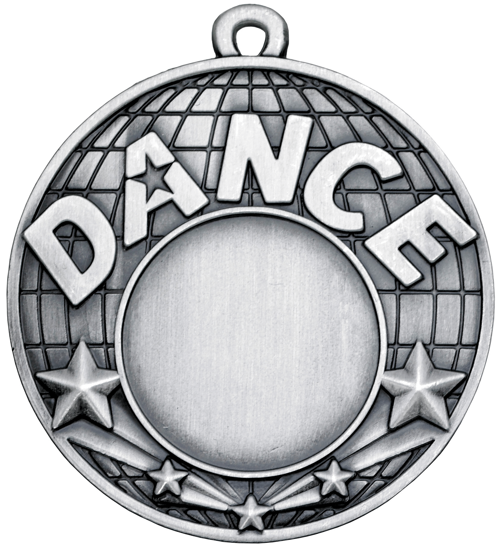 "Dance Silver Shooting Star Medal 50mm (2"")"