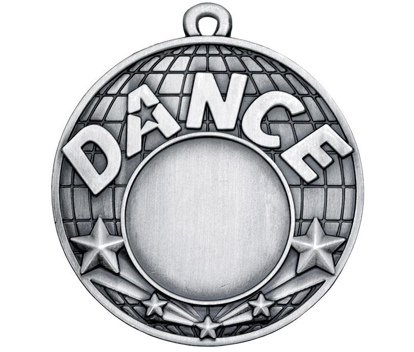 "Dance Silver Shooting Star Medal 50mm (2"")"