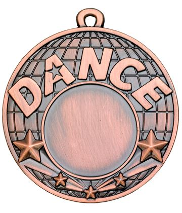 "Dance Bronze Shooting Star Medal 50mm (2"")"