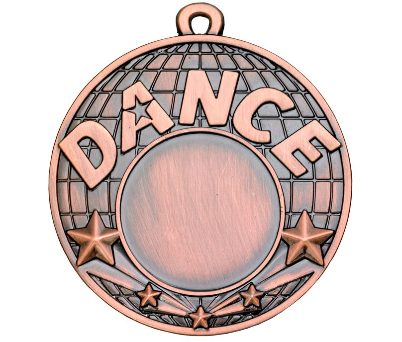 "Dance Bronze Shooting Star Medal 50mm (2"")"