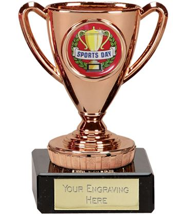 """Sports Day Bronze Cup Trophy 10cm (4"""")"""