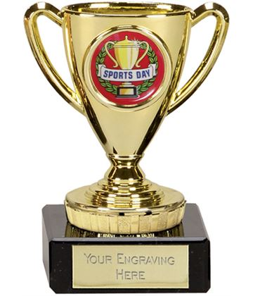 "Sports Day Gold Cup Trophy 10cm (4"")"