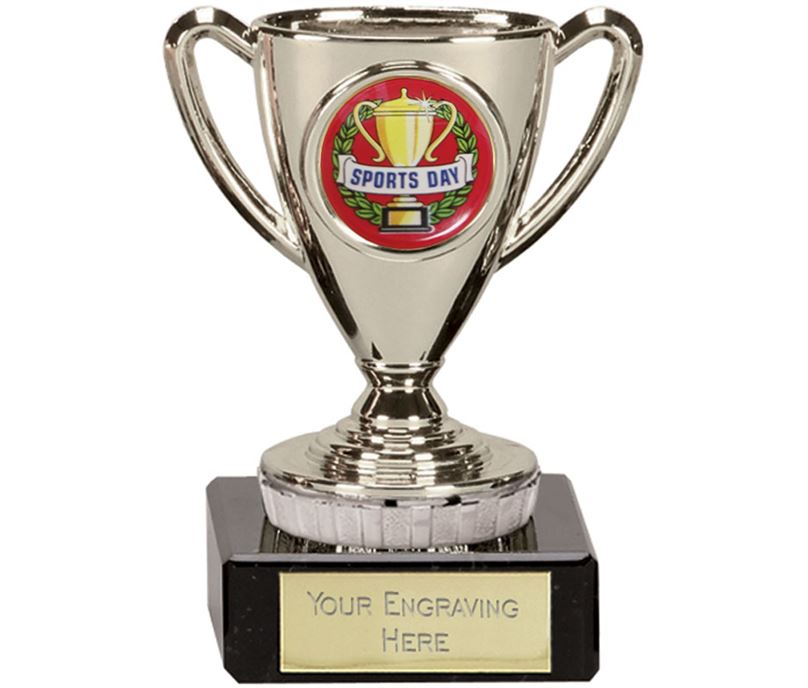 "Sports Day Silver Cup Trophy 10cm (4"")"