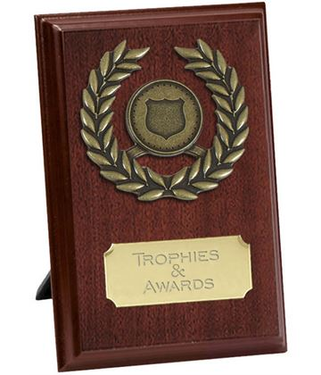 "Pure Laurel Wreath Plaque Award 10cm (4"")"