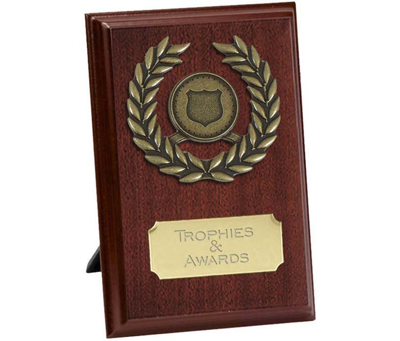 """Pure Laurel Wreath Plaque Award 15cm (6"""")"""