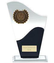 "Trek Clear & Black Glass Award 18.5cm (7.25"")"