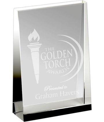 "Heavyweight Optical Crystal Guardian Wedge Plaque Award 8cm (3"")"
