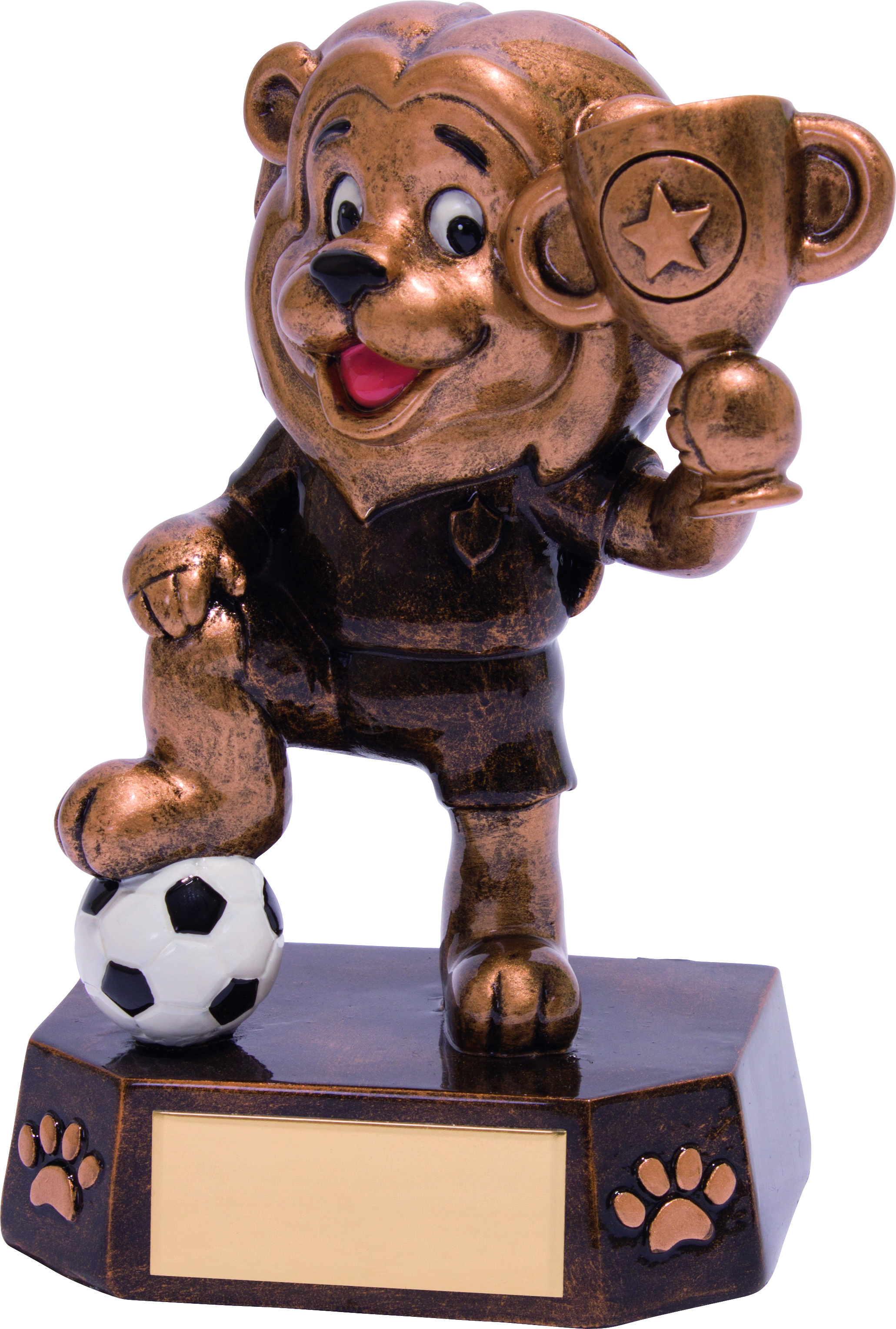 "Football Kids Lion Braveheart Trophy 12.5cm (5"")"