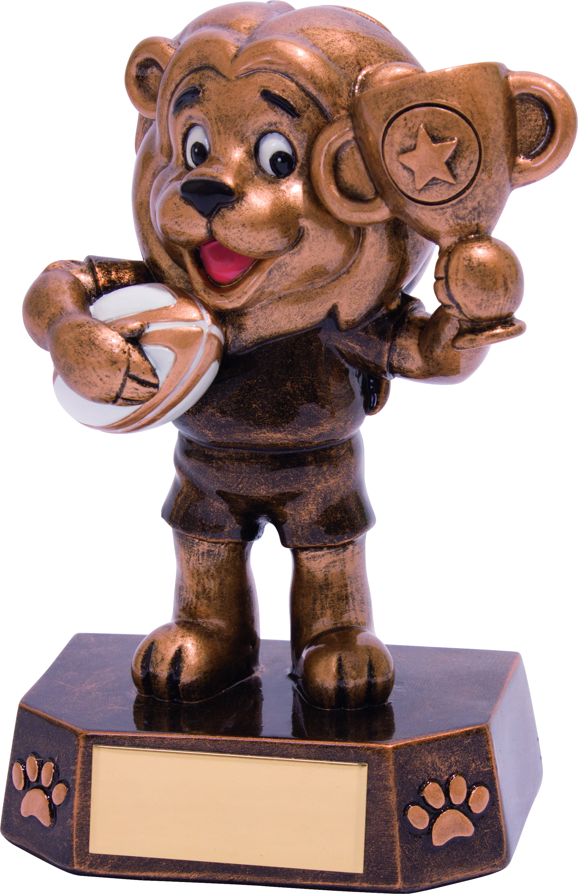 "Rugby Kids Lion Braveheart Trophy 12.5cm (5"")"