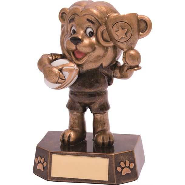"Rugby Kids Lion Braveheart Trophy 12.5cm (5"")"