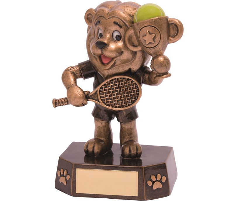 "Tennis Kids Lion Braveheart Trophy 12.5cm (5"")"