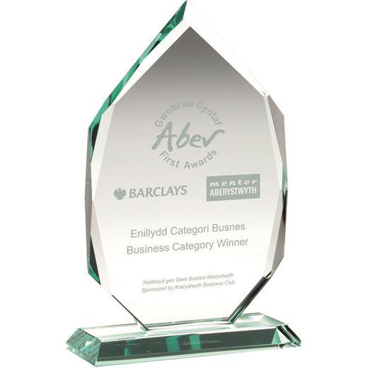 "Diamond Jade Glass Award on Base 26cm (10.25"")"