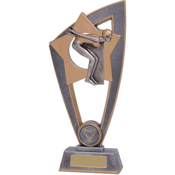 "Female Swimming Star Blast Trophy 18cm (7"")"
