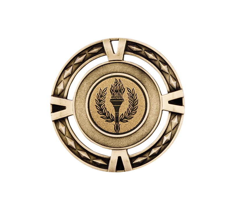 """Multisport V-Tech Medal Gold 60mm (2.25"""")"""