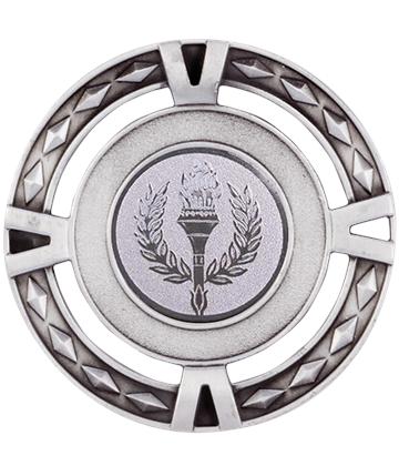 """Multisport V-Tech Medal Silver 60mm (2.25"""")"""