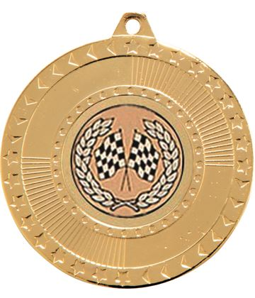"Gold Star-Force Multi Sport Medal 50mm (2"")"