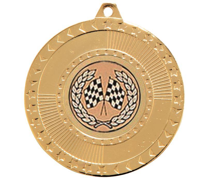 "Gold Star-Force Multi Sport Medal 50mm (2"")"