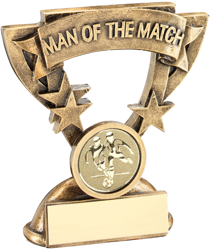 "Man Of The Match Banner Football Trophy 9.5cm (3.75"")"