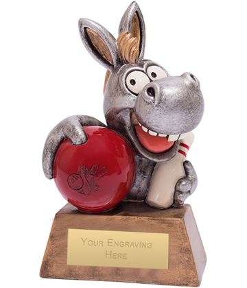 "Ten Pin Bowling Donkey Novelty Award 13cm (5"")"