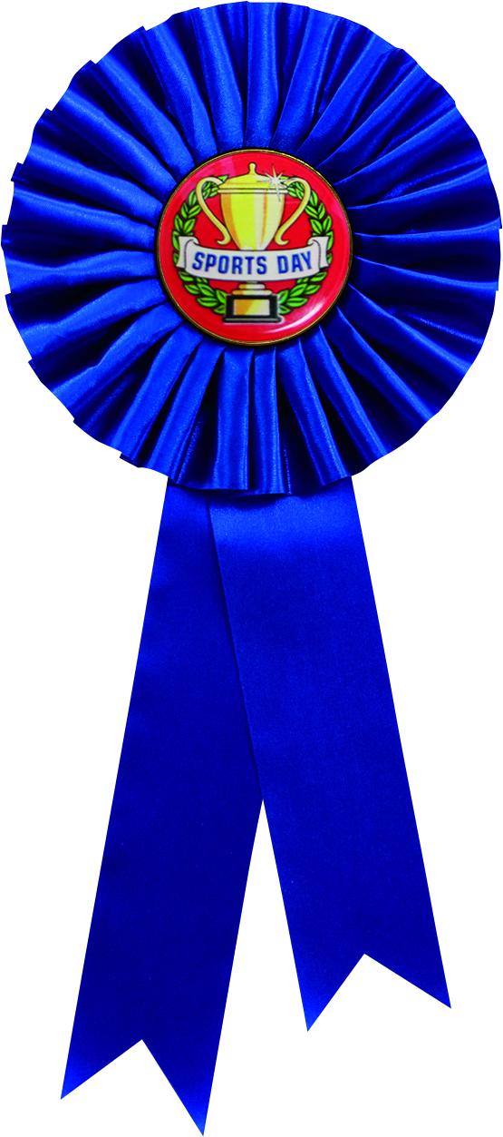 "Single Tier Blue Rosette 30cm (11.75"")"