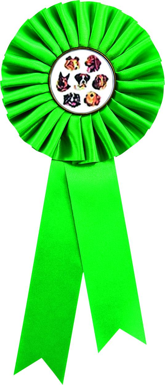 """Single Tier Green Rosette 30cm (11.75"""")"""