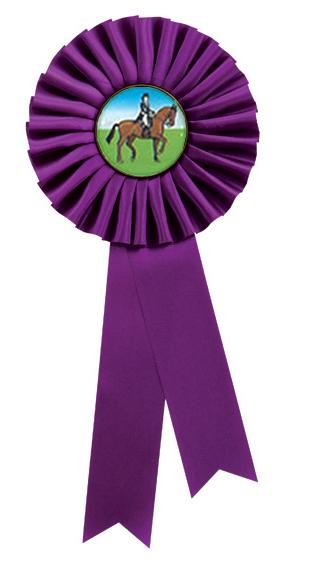 """Single Tier Purple Rosette 25.5cm (10"""")"""