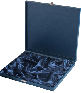 "Blue Wooden Salver Tray Case for up to 10"" Trays"