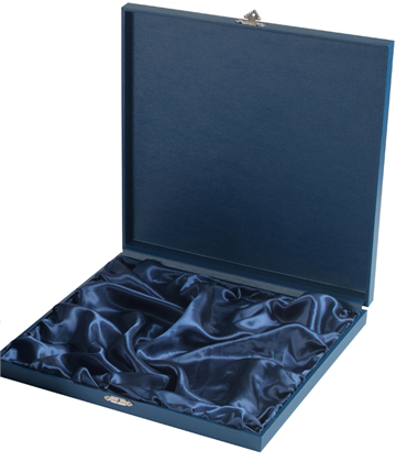 "Blue Wooden Salver Tray Case for up to 4"" Trays"