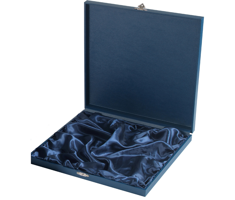 """Blue Wooden Salver Tray Case for up to 12"""" Trays"""