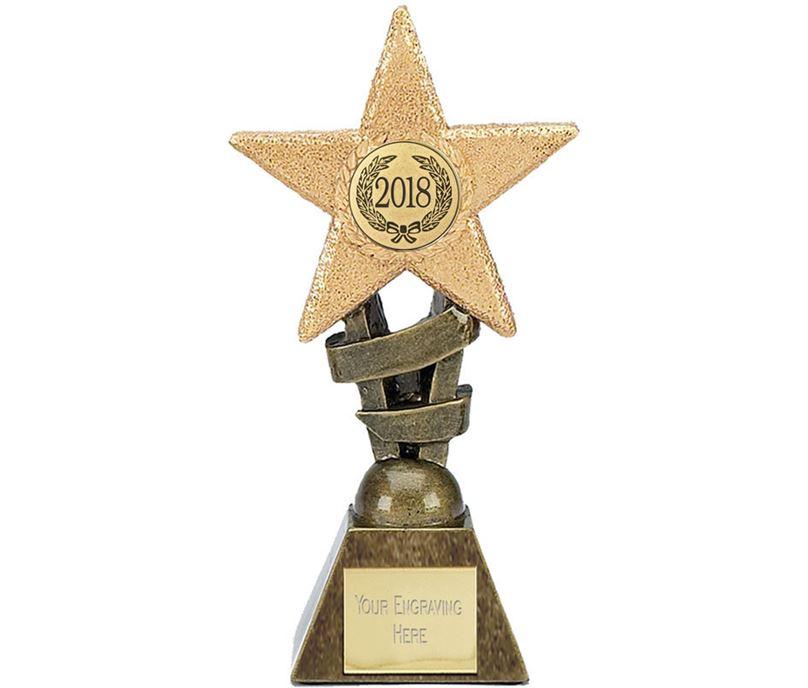 """2018 Multi Award Star Trophy 10cm (4"""")"""