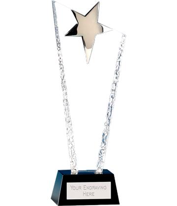 "Major Star Crystal Glass Award 25cm (10"")"