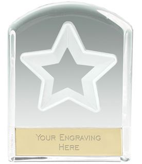 """Star Arched Top Glass Award 11cm (4.25"""")"""