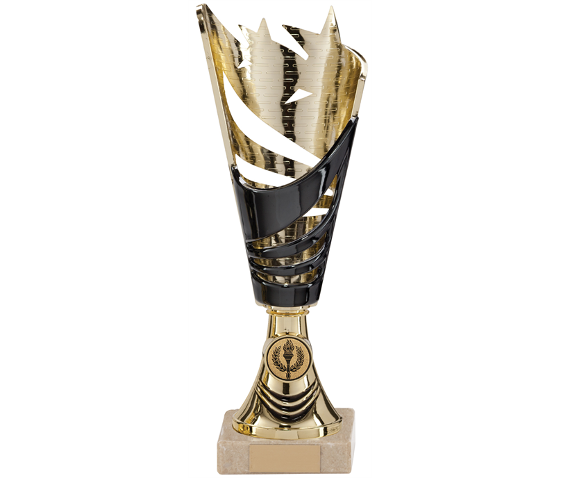 "Voretex Gold & Black Plastic Trophy Cup 29cm (11.5"")"