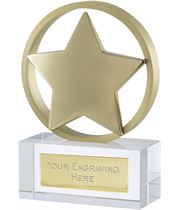 "Gold Finish Optical Crystal Star Awards 11.5cm (4.5"")"