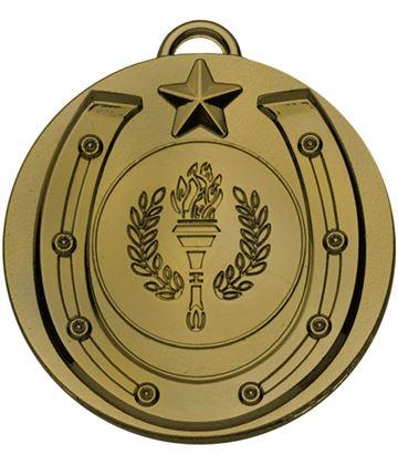 """Bronze Horse Shoe Taget Medal 50mm (2"""")"""