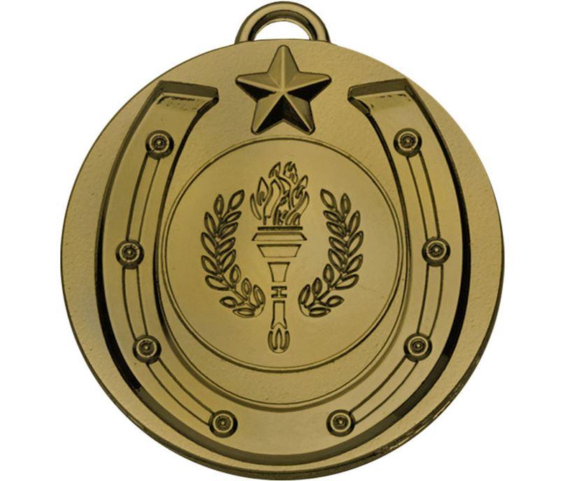 """Bronze Horse Shoe Target Medal 50mm (2"""")"""