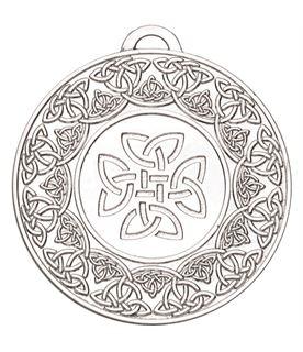 """Silver Celtic Target Medal 50mm (2"""")"""