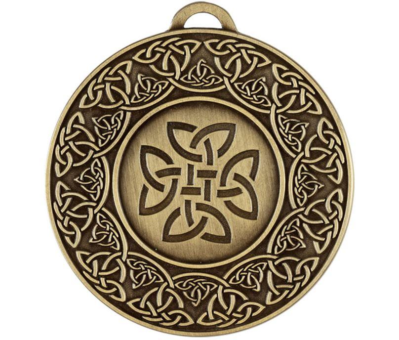 """Bronze Celtic Target Medal 50mm (2"""")"""