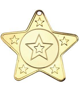 """5 Star Multi Sport Medal Gold 50mm (2"""")"""