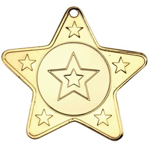 "5 Star Multi Sport Medal Gold 50mm (2"")"