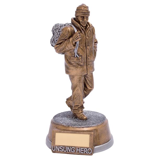 "Unsung Hero Football Trophy 19.5cm (7.75"")"