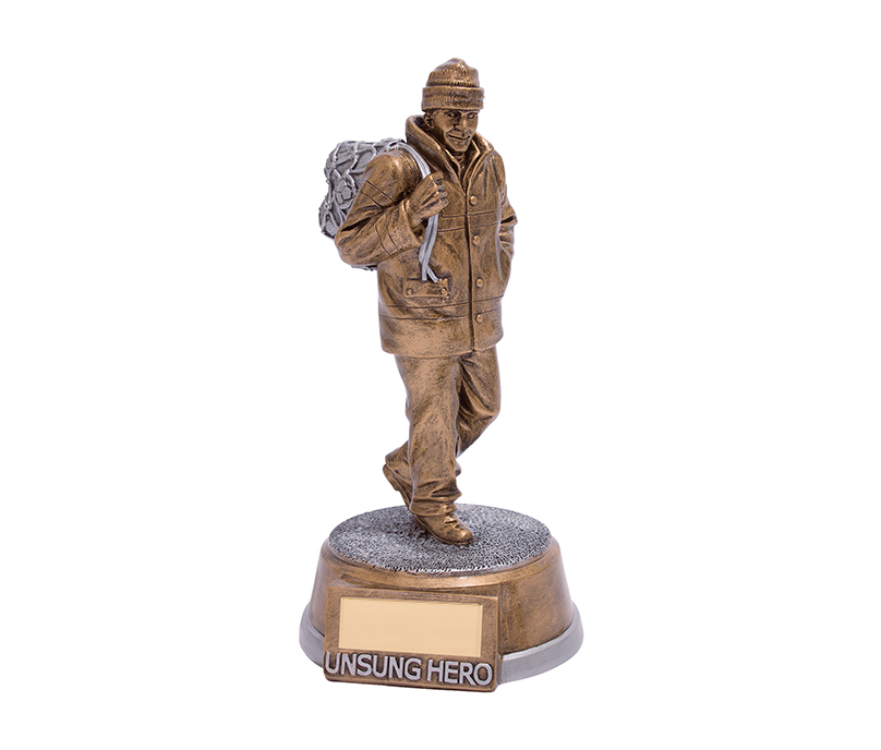 "Unsung Hero Football Trophy 19.5cm (7.75"")"