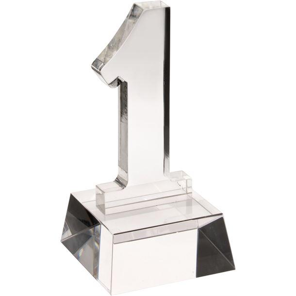 "Heavyweight Clear Glass No.1 Award 14cm (5.5"")"