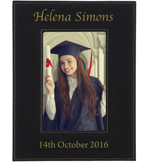 "Personalised Photo Frame Black 23cm x 17cm (9"" x 6.75"")"