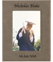 "Personalised Photo Frame Light Brown 23cm x 17cm (9"" x 6.75"")"