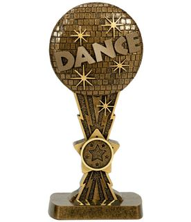 "Antique Gold Glitter Ball Dance Award 19cm (7.5"")"