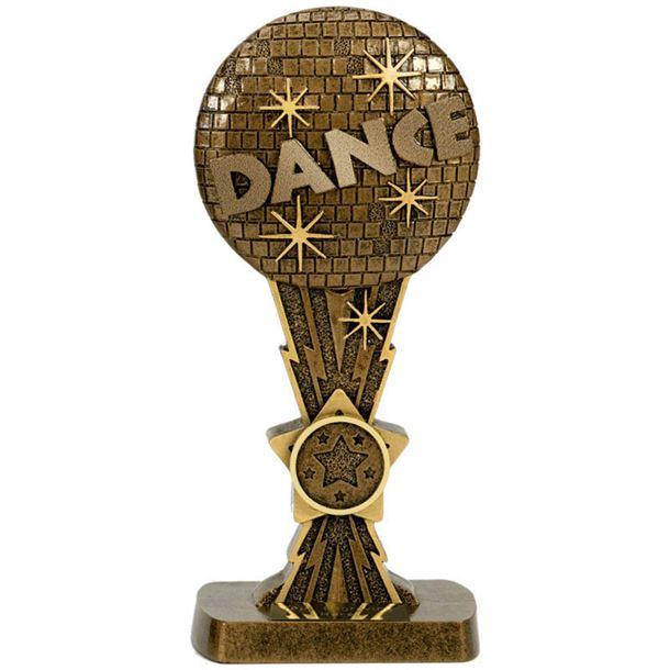 """Antique Gold Glitter Ball Dance Award 19cm (7.5"""")"""
