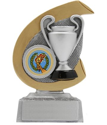 "Achievement Hoopla Trophy Gold & Silver 12cm (4.75"")"